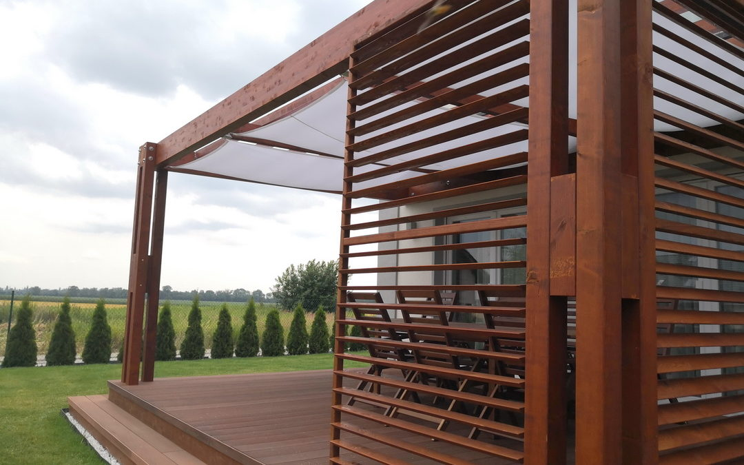 Pergola ogrodowa z drewna BSH