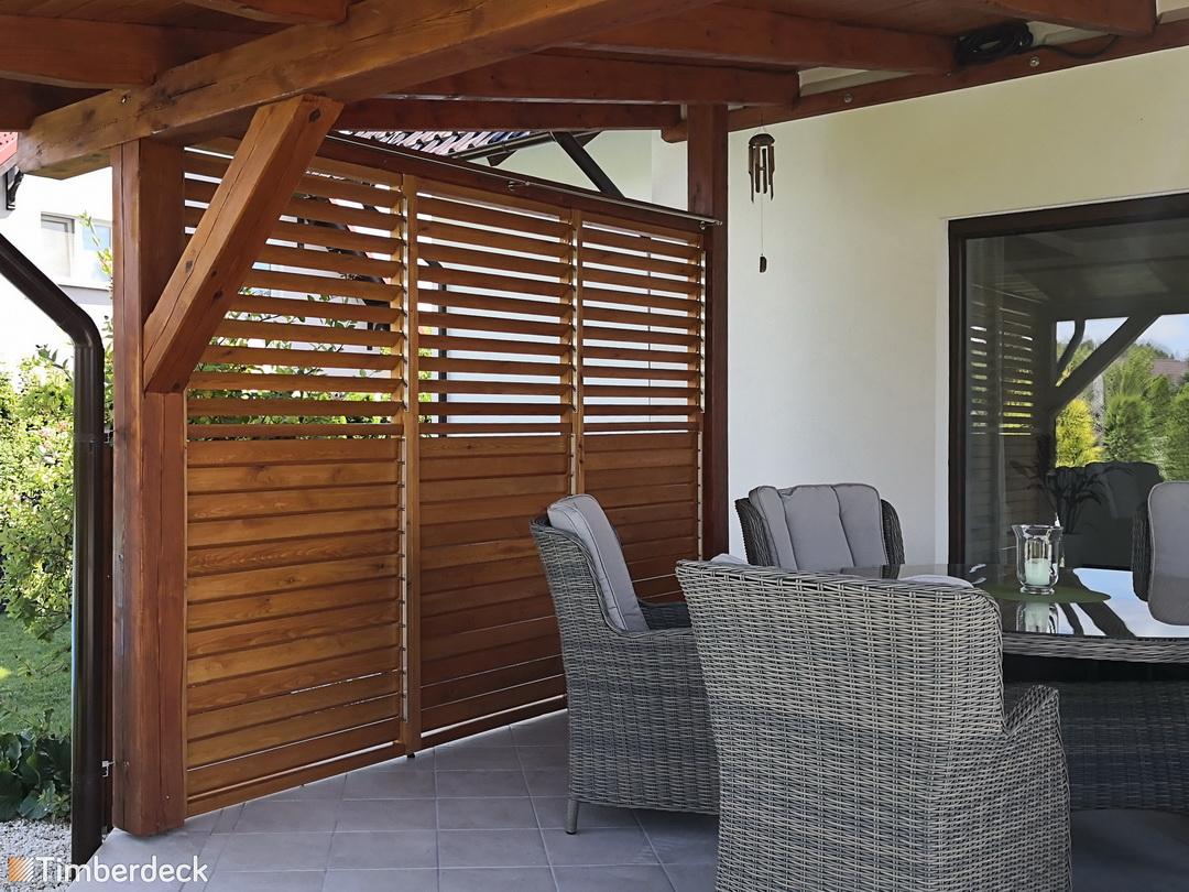 shuttersy na taras drewniane