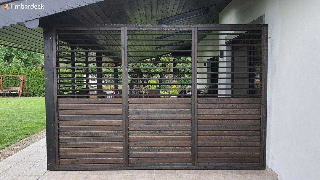 Timberdeck shuttersy na taras modrzew syberyjski