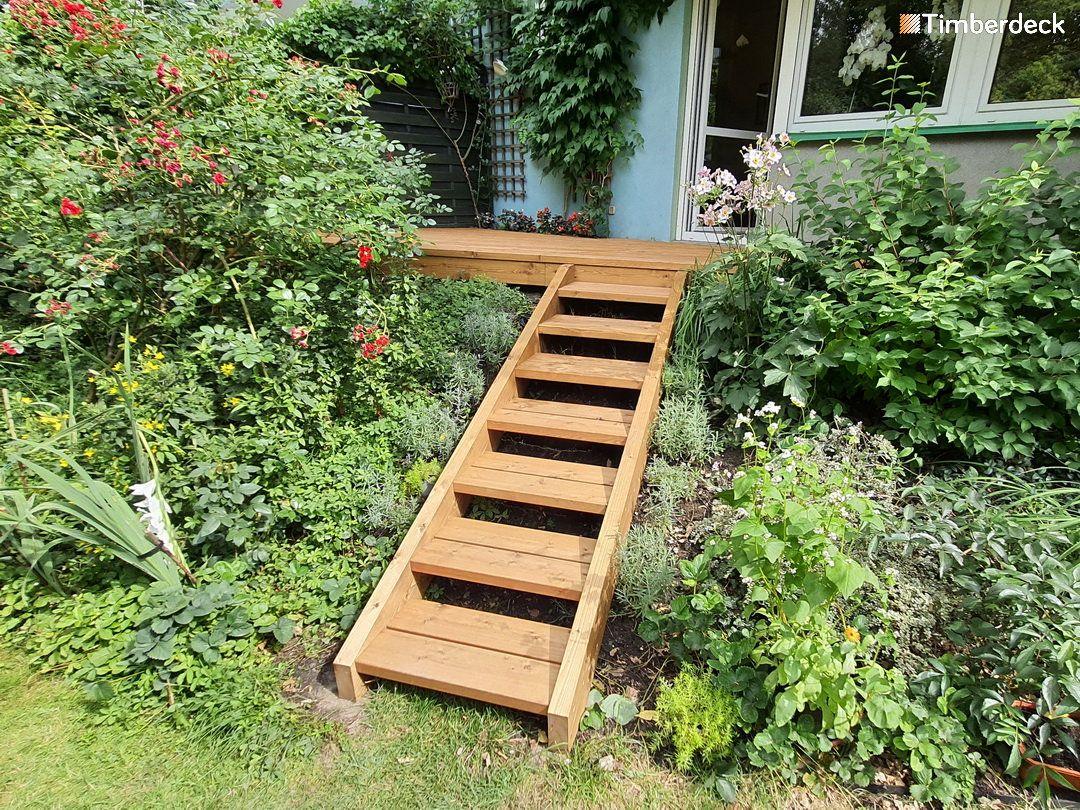 schody przy tarasie